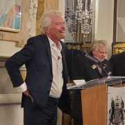 Sir Richard Branson, delivers funny and engaging acceptance speech for the Transatlantic Leading Edge Award at the British Embassy in Washington, DC