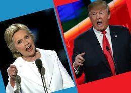 Donald Trump and Hillary Clinton debating
