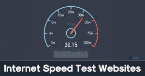 Internet speed test websites
